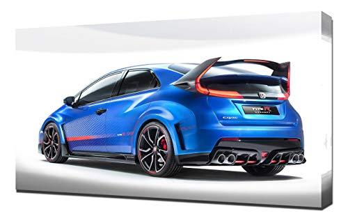 Lilarama 2014-Honda-Civic-Type-R-Concept-V8-1080 - Art Leinwandbild - Kunstdrucke - Gemälde Wandbilder