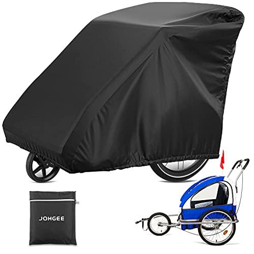 Johgee - Funda para remolque de bicicleta para niños, resistente a los rayos UV, al agua y al...