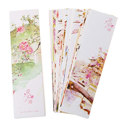 Taishan 30pcs segnalibri di carta in stile cinese creativo Carte da pittura Regali commemorativi di segnalibri in scatola retrò bella