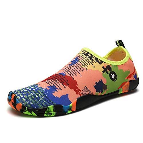 Aerlan Deportes Acuáticos Zapato,Extra Cómodos Zapatos de Agua,Zapatos de Agua de interferencia de Velocidad par Playa Zapatos Antideslizantes Transpirables-Map_39