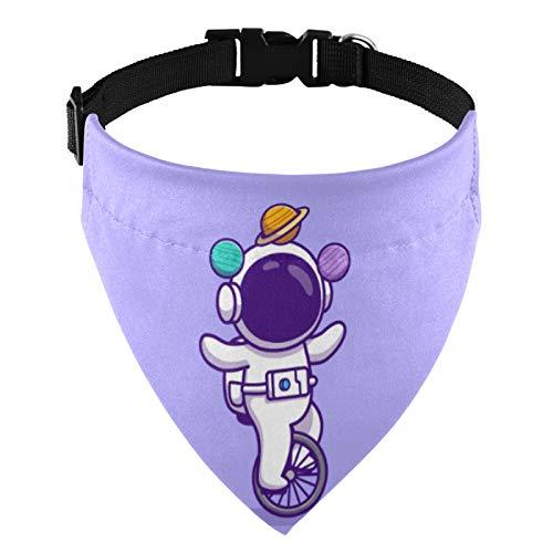 Bandana para perro con hebilla ajustable, collar de perro de astronauta Frolic triangular bufanda lavable para perros pequeños medianos y grandes cachorros Sidereal 2011937