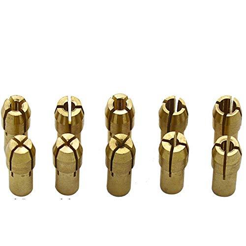 10Pcs Brass Drill Chuck Collet Bits 0.5-3.2mm Accessories Fits Dremel Rotary Tools