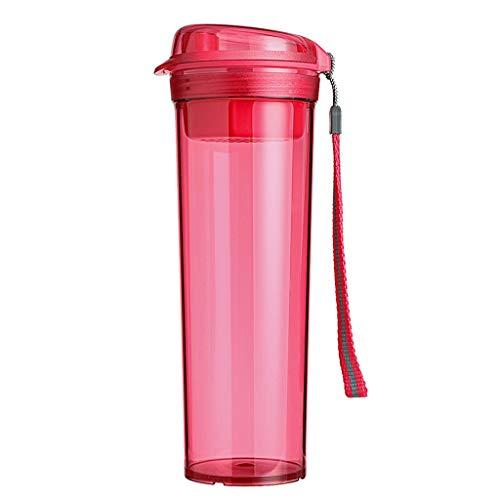 Xiaodou Outdoor Sportflasche aus Plastikbecher, Freier, Sealing, auslaufsicher Tee, Trennung Wasser-Schale, mit Filter Gitter Versiegelt Auslaufsicher Wasserflasche