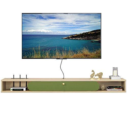 Étagère flottante Meuble TV mural, étagère de rangement, boîte décorative, décodeur DVD mural, décodeur TV satellite, décodeur câble/A / 160cm