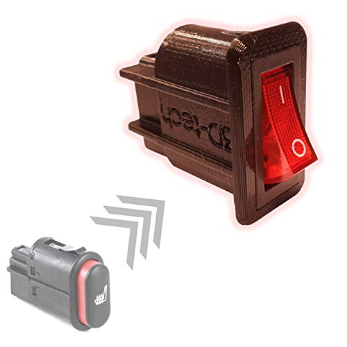 Ersatz Schalter Sitzheizung (Rot)