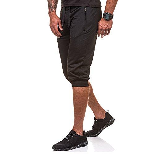 Alikeey Slim Fit Stretch sweatshort voor heren, korte gym, workout, joggingbroek, fit, elastische casual sportkleding