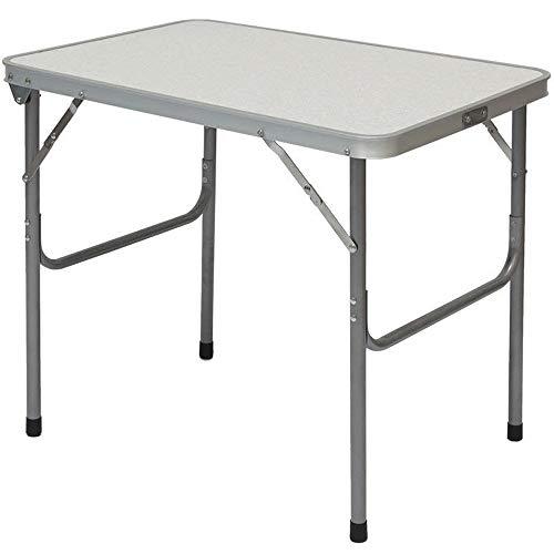 AMANKA Alu Campingtafel 70x55cm - inklapbbar Kampeertafel - Picknicktafel licht Vouwtafel Klaptafel Grijs