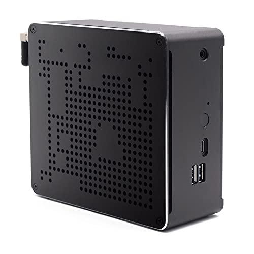 BASOARO Mini Computer, Mini Gaming PC, Intel Core i7 9850H Prozessor, 16G RAM 256G SSD, Gigabit Ethernet, Mini DP/HDMI, TYP C, 4 USB 3.0, 2 USB 2.0, WLAN, Bluetooth