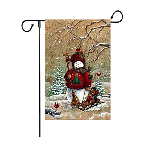 Weihnachtsbanner Weihnachtsserie Gartenflagge außerhalb dekorativer hängender Winter Saisonale Ferienhof Dekorationen Flaggen & Banner (Color : 6)