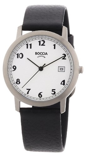Boccia Herren-Armbanduhr Leder 3617-01