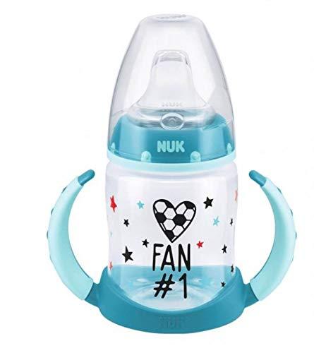 3x NUK First Choice Trinklernflasche 6-18m Fußball-Edition je 150ml weich