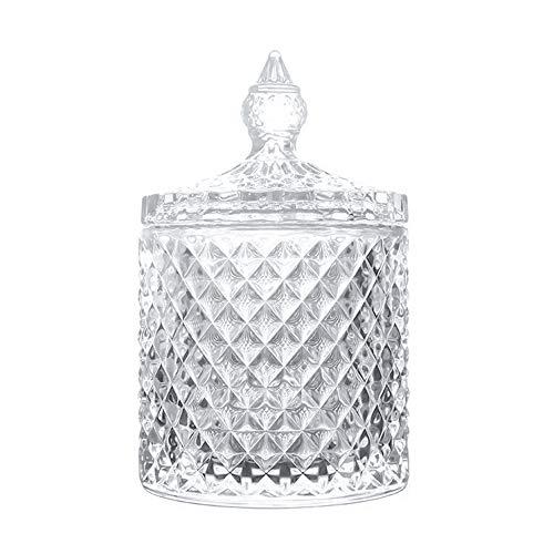 Danmu Art Bombonera Cristal Tarro de Vidrio Storage Tarro de Almacenamiento Plato de Caramelo Caja 300ml
