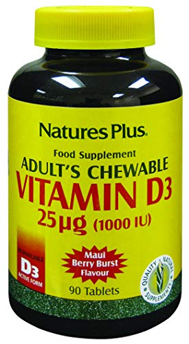 Nature's Plus Adult's Chewables Vitamin D3 1000 IU 90 - Vegetarian- Gluten Free