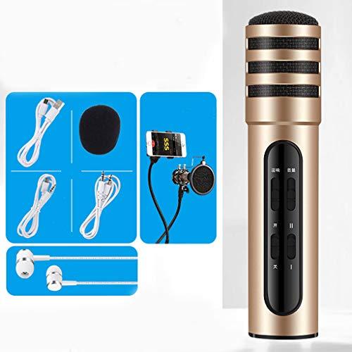 Handy-Mikrofon nach Hause k Lied Artefakt Mikrofon ein Android TV Universal Karaoke (Farbe : A)
