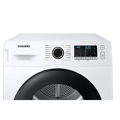 Samsung Elettrodomestici DV80TA220AE/ET Asciugatrice Crystal EcoDry, Front Load, 8 kg, Bianco, Oblò Nero