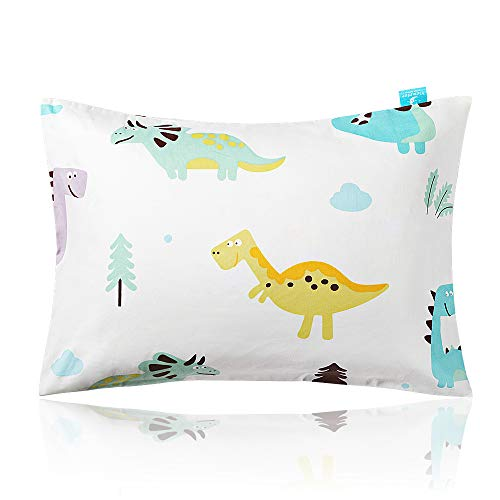 viewstar Toddler Pillow with Pillowcase, Natural Cotton Kids Pillow for Sleeping, Toddler Beding Small Pillow, Baby Pillows for Boys Girls, Fits Child Nap Cot to Bed Set 13x18