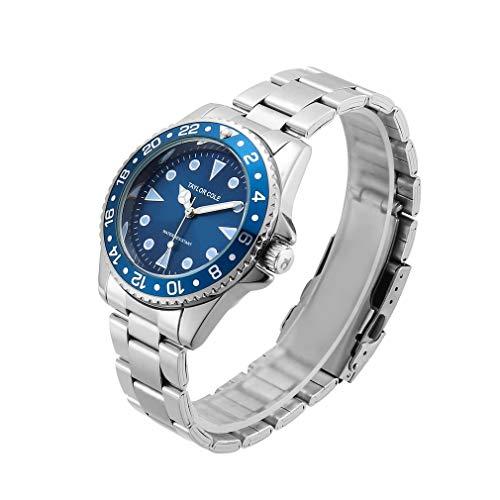 CandyTT 1818-7 Reloj de Cuarzo con Tira de Acero Reloj de Pulsera de Cuarzo Encantador de Moda Reloj de Pulsera de Ocio Decoración de Mano Reloj de Cuarzo Exquisito (blue1818-7)