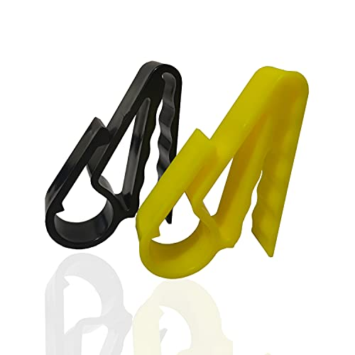 2Color Grip Cigar Clip Holder Golfers Cigars Clip Cigar Minder Attaches Cigars Putter to Golf Carts for Boats BBQ Grills (Black,Yellow)