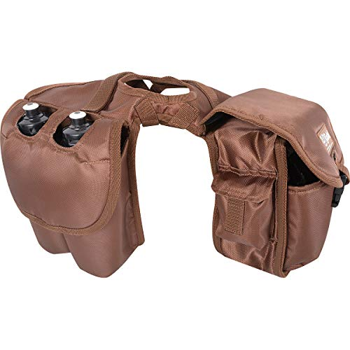 Cashel Saddle Bag, Horn with Bottle Holder, Brown