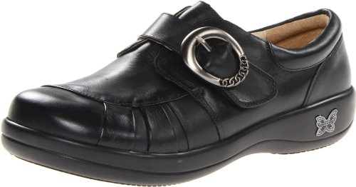 Alegria Women's Khloe Slip-On,Black Nappa,41 EU/10.5 M US