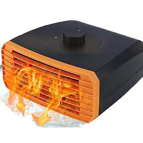 NBMN Mini Coche Calefactor Desempañador, 12V-24V Portátil Calefacción Eléctrica 2 En 1 Función De Enfriamiento Y Calefacción, 3 Segundos De Calentamiento, Ahorro De Energía