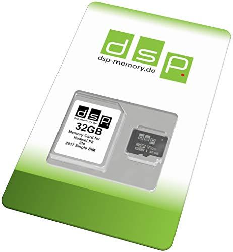 32 GB geheugenkaart (klasse 10) voor Huawei P8 lite 2017 Single SIM