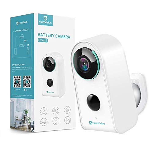 Security Camera Outdoor Indoor Wireless Battery Camera, HeimVision Rechargeable Battery Powered Camera, WiFi Home Security Camera with Cloud, Motion Detection, 2-Way Audio, 1080P, Waterproof(Freed 3)