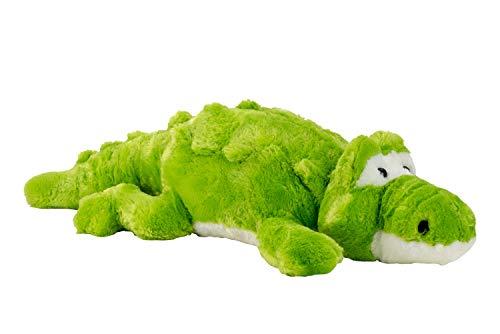 Grote krokodil knuffel knuffel groen XXL 100 cm hoog en fluweelzacht - om van te houden