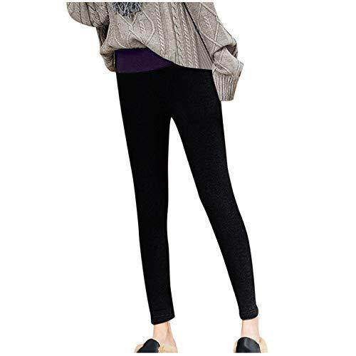 757 Leggings Termici da Donna Pantaloni da Jogging Foderati in Pile Pantaloni Invernali Slim-Fit...