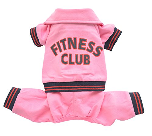Doggy Dolly DRF031 Jogginganzug für Hunde Fitness Club, rosa, Größe : S