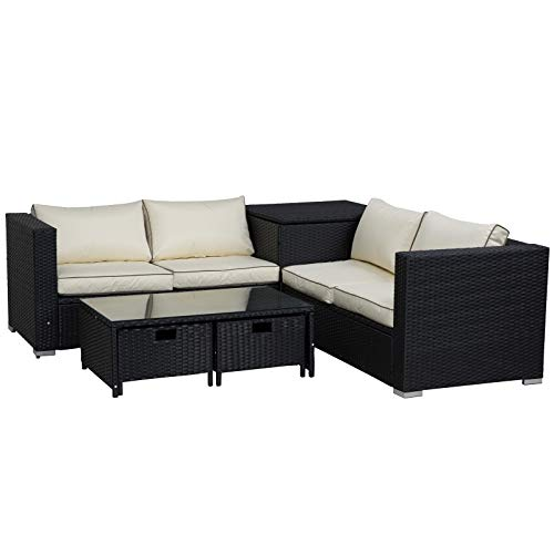 Better Homes And Gardens Replacement Cushions Azalea Ridge, Compare Prices For Outsunny 4 Pcs Rattan Wicker Garden Furniture Patio Sofa Storage Table Set W 2 Drawers Coffee Table Great Cushioned 4 Seats Corner Sofa Black Outsunny Pricechecker Uk Price Comparison