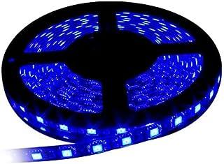 イドミせ LEDテープ 黑ベース 5m 300連SMD5050 正面発光 12V 防水 高輝度 カラー選択可能 ストリップライト テープライト (ブルー)