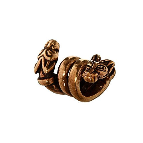 NKlaus Viking Beard Pearl Viking Dogs Braid Jewellery Bronze Curly Pearl 6387