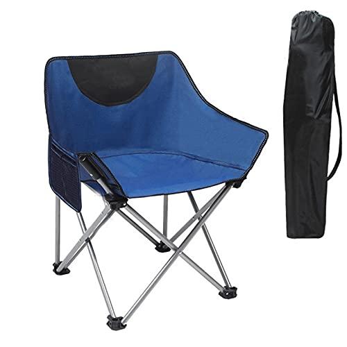 XMH Sillas De Camping, Silla De Campamento Plegable Ultraligera Y Duradera, Picnic De Pesca En La Playa para Exteriores,Azul