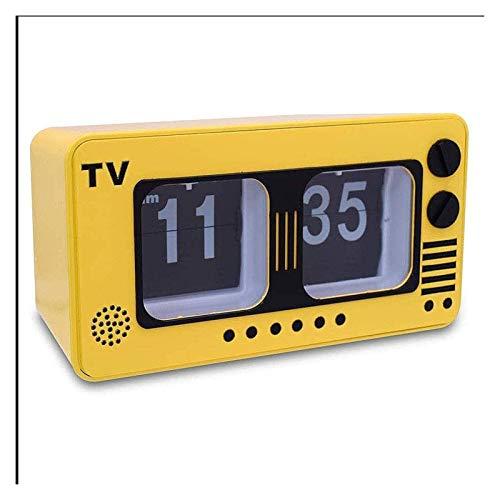 BFBZ Voltear la televisión automático del Reloj de TV Digital Retro Flip Clock for el hogar decoración de la Pared Escritorio y Estante Relojes Operación de Engranajes internos 1023