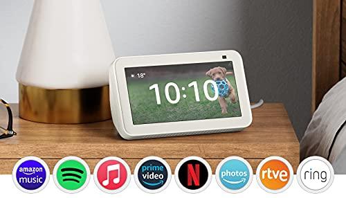 Nuevo Echo Show 5 (2.ª generación, modelo de 2021) | Pantalla inteligente con Alexa y cámara de 2 MP | Blanco