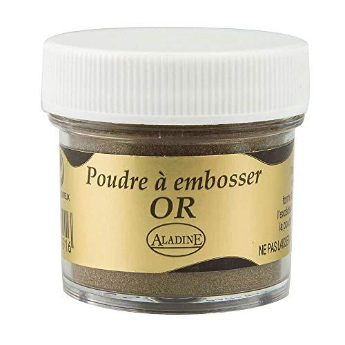 Aladine - Poudre à Embosser Izink Gold - Embossing - Effet Volume 3D pour Scrapbooking et Carterie Créative - Scrap en Relief Couleur Or - Pot de 25 ml