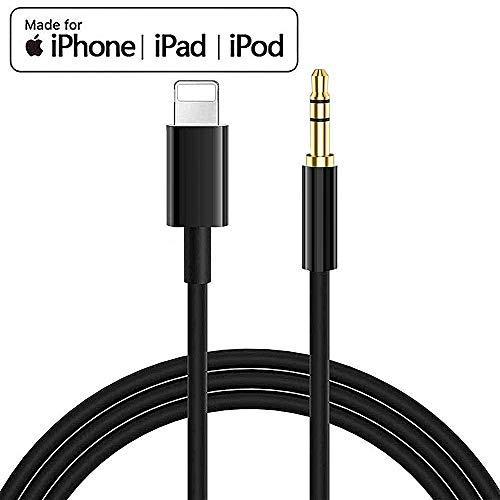 Cable Auxiliar para iPhone Coche Jack de 3.5 mm,Cable de Aud