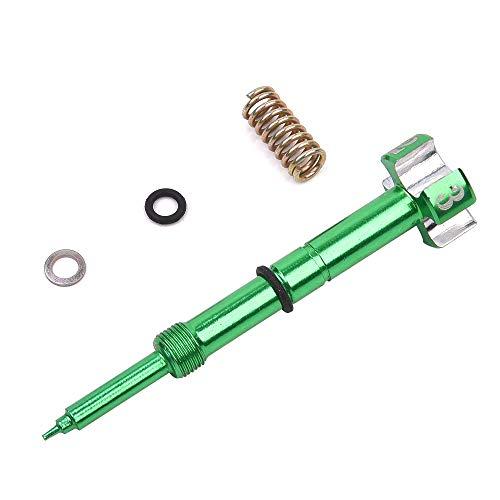 Sustitución del ajuste de tornillo de mezcla de combustible de aire CNC para carburador VM26 30 mm verde