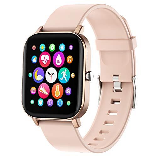 Smartwatch, cardiofrequenzimetro fitness tracker, orologio contapassi e monitor del sonno, tracker di attività sportive all'aperto impermeabile IP73 per uomo