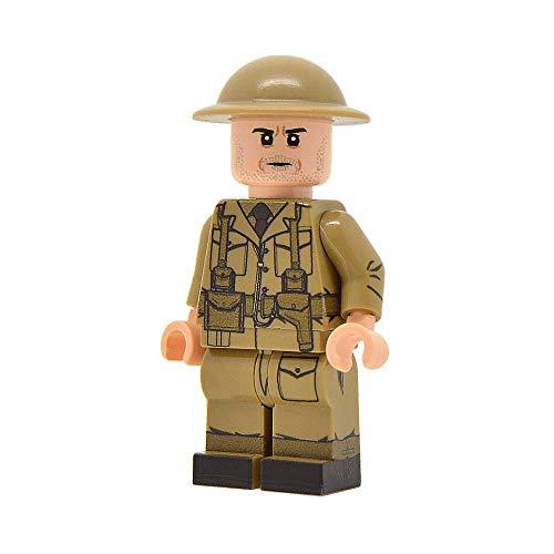 United Bricks WW2 British Army Officer (Mid-Late War) Custom Minifigure