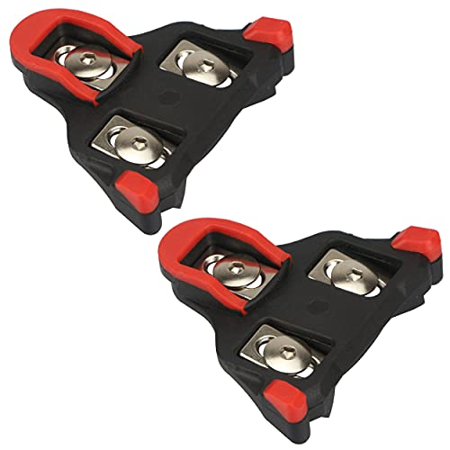 yVicv Bike Cleats Compatible with Shimano SPD-SL Cleats 6 Degree Float Self-locking Bicycle Pedals Cleats for Indoor Cycling and Road Bicycle Red