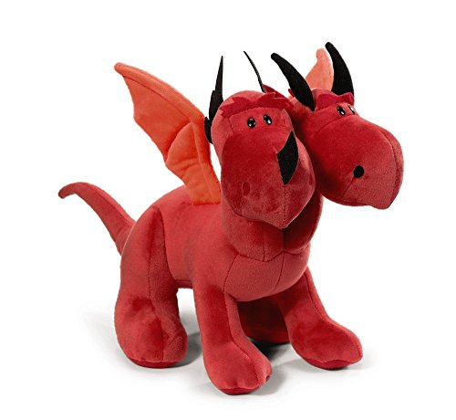 Nici 39811 39811 draak dubbele kop pluche staand, rood