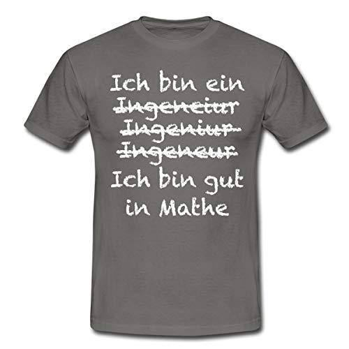Ingenieur Gut In Mathe Witziger Spruch Männer T-Shirt, XXL, Graphite