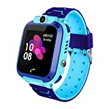 Smart Watch for Kids with LBS Track- SOS Anti-lost Children's Smartwatch Phone with Camera Touch Screen Voice Chat Flashlight Alarm Game for 4-14 Year Boys Girls Birthday Gifts
