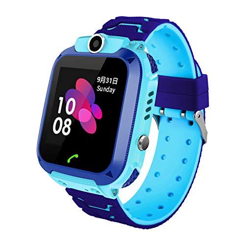 Reloj Inteligente para Niños con Posicionamiento LBS- SOS Anti-Lost Children\'s Smartwatch Phone Compatible para Android e iOS con Voice Chat Alarm Game Linterna para Niñas Regalos de Cumpleaños