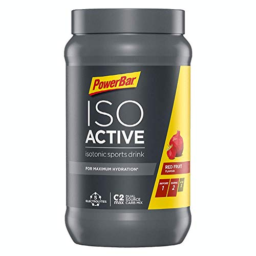 PowerBar Isoactive Red Fruit 1320g - Isotonic Sports Drink - 5 Electrolytes + C2MAX