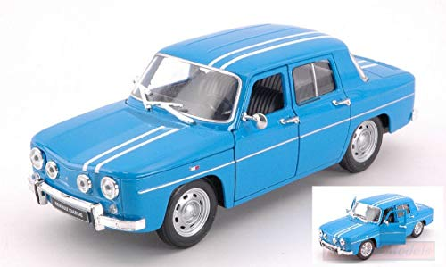 Welly WE0323 Renault R8 GORDINI 1964 Blue/White 1:24 MODELLINO Die Cast Model Compatible con