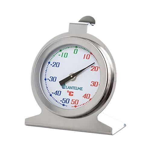 Lantelme Kühlschrankthermometer Edelstahl Analog Gefrierschrank Kühlfach Kühlhaus Thermometer Bimetall Zeiger 5390