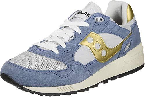 Saucony Shadow 5000 Vintage, Zapatillas de Cross para Hombre, Azul (Blue/Gold/Gray 2), 40 EU